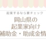 岡山県の女性起業家必見!補助金,支援金,助成金情報